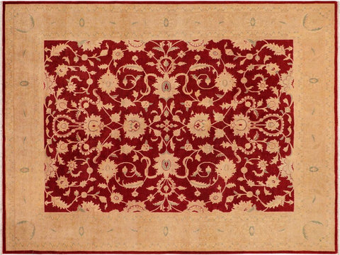 handmade Traditional Kafkaz Red Brown Hand Knotted RECTANGLE 100% WOOL area rug 8 x 10