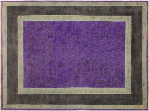 "A10470, 7' 8"" X  9' 8"",Over Dyed                     ,8' x 10',Purple,CHARCOAL,Hand-knotted                  ,Pakistan   ,100% Wool  ,Rectangle  ,652671192012"
