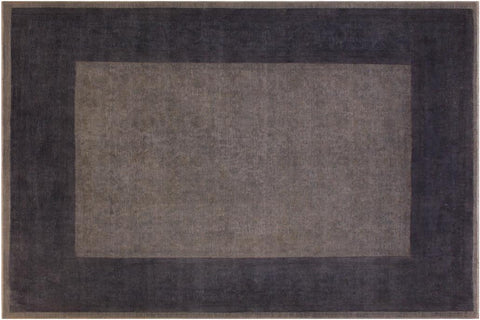 "A10474, 7'11"" X  9' 6"",Over Dyed                     ,8' x 10',Grey,DRK. GRAY,Hand-knotted                  ,Afghanistan,100% Wool  ,Rectangle  ,652671208294"