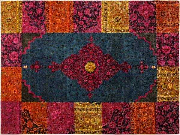 "A10477, 8' 1"" X 10' 3"",Over Dyed                     ,8' x 10',Green,MAGENTA,Hand-knotted                  ,Pakistan   ,100% Wool  ,Rectangle  ,652671192050"