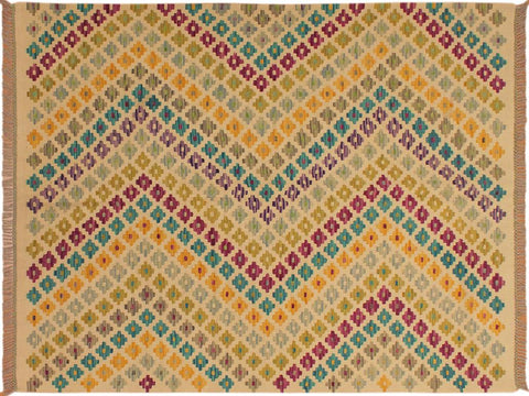 "A10499, 5' 0"" X  6' 6"",Geometric                     ,5' x 7',Natural,PURPLE,Hand-woven                    ,Pakistan   ,100% Wool  ,Rectangle  ,652671192272"