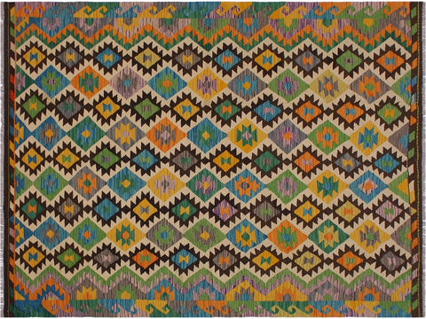 "A10527, 5'10"" X  8' 4"",Geometric                     ,6' x 8',Brown,BEIGE,Hand-woven                    ,Pakistan   ,100% Wool  ,Rectangle  ,652671192555"