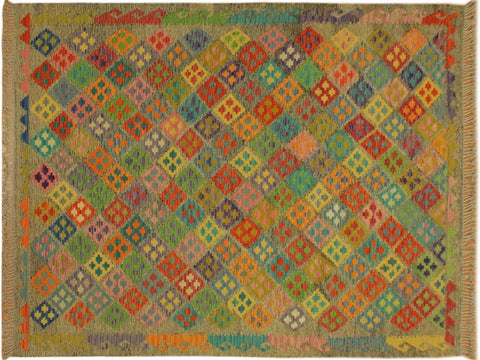"A10544, 6' 3"" X  7'11"",Geometric                     ,6' x 8',Brown,RUST,Hand-woven                    ,Pakistan   ,100% Wool  ,Rectangle  ,652671192722"