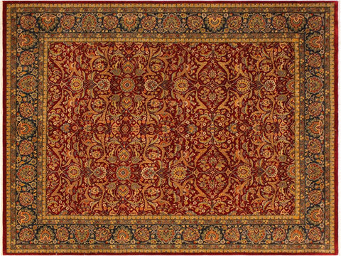 "A01055, 7'11"" X 10' 4"",Traditional                   ,8' x 10',Red,BLUE,Hand-knotted                  ,Pakistan   ,100% Wool  ,Rectangle  ,652671131639"