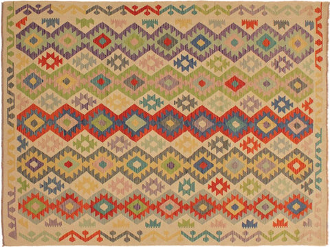 "A10564, 6' 7"" X  9' 8"",Geometric                     ,7' x 10',Natural,RUST,Hand-woven                    ,Pakistan   ,100% Wool  ,Rectangle  ,652671192920"