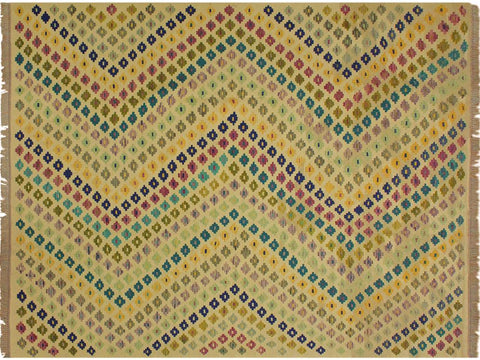 "A10572, 6' 7"" X  9' 9"",Geometric                     ,7' x 10',Natural,BLUE,Hand-woven                    ,Pakistan   ,100% Wool  ,Rectangle  ,652671193002"
