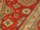 "A10594, 4' 1"" X  5' 8"",Geometric                     ,4' x 6',Red,IVORY,Hand-knotted                  ,Pakistan   ,100% Wool  ,Rectangle  ,652671193224"