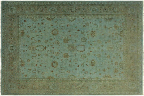 "A10604, 8'10"" X 11' 8"",Over Dyed                     ,9' x 12',Blue,RUST,Hand-knotted                  ,Pakistan   ,100% Wool  ,Rectangle  ,652671193323"