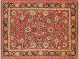 "A01061, 9' 3"" X 11'11"",Transitional                  ,9' x 12',Red,DRK. BLUE,Hand-knotted                  ,Pakistan   ,100% Wool  ,Rectangle  ,652671131691"