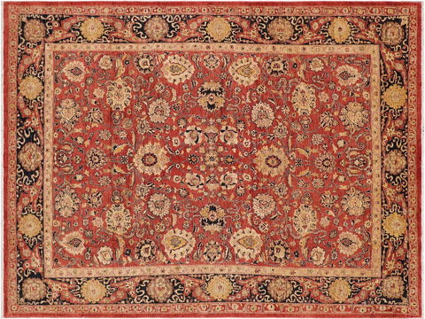 handmade Transitional Kafkaz Red Drk. Blue Hand Knotted RECTANGLE 100% WOOL area rug 9 x 12