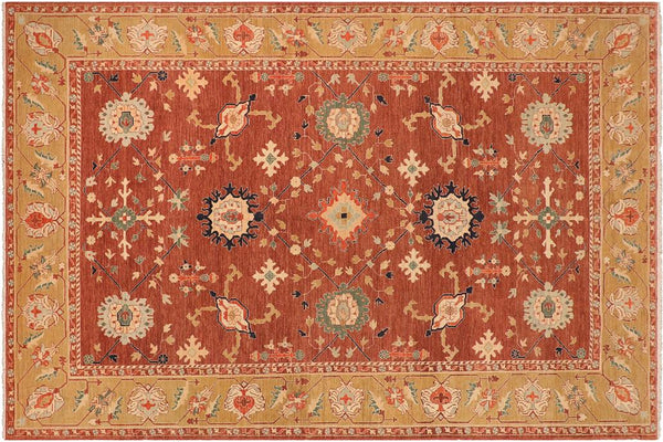 "A01062, 9' 8"" X 13' 0"",Traditional                   ,10' x 13',Brown,LT. GREEN,Hand-knotted                  ,Pakistan   ,100% Wool  ,Rectangle  ,652671131707"