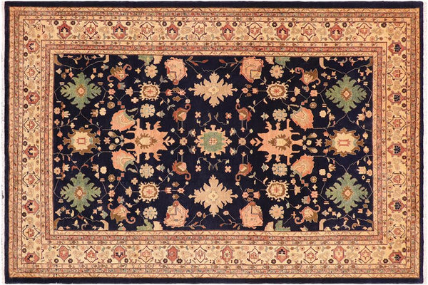 "A01066, 9' 2"" X 11' 6"",Transitional                  ,9' x 12',Blue,TAN,Hand-knotted                  ,Pakistan   ,100% Wool  ,Rectangle  ,652671131745"