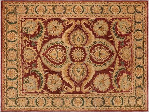 "A01068, 9' 2"" X 11' 6"",Traditional                   ,9' x 12',Brown,GREEN,Hand-knotted                  ,Pakistan   ,100% Wool  ,Rectangle  ,652671131769"