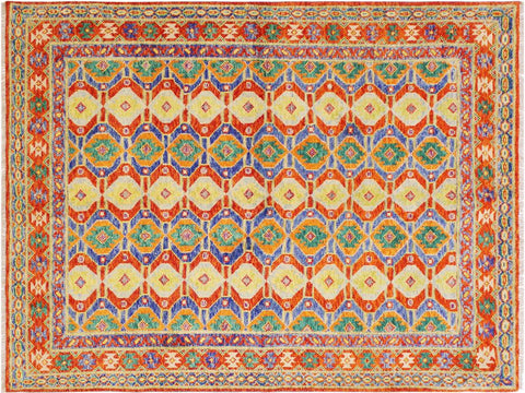 handmade Geometric Tribal Modern Balochi Red Blue Hand-Knotted RECTANGLE 100% WOOL area rug 6x8 Hand knotted indoor Afghan Balochi area rug made for all rooms with high quality wool in rich color pallet handmade by skilled artisans in geometric, transitional, tribal design are known for high quality and affordable price. Oriental rug offered at cheap discount for any decor. Balochi Baluchi Baluch soft wool rug