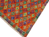 handmade Geometric Tribal Modern Balochi Orange Green Hand-Knotted RECTANGLE 100% WOOL area rug 5x6 Hand knotted indoor Afghan Balochi area rug made for all rooms with high quality wool in rich color pallet handmade by skilled artisans in geometric, transitional, tribal design are known for high quality and affordable price. Oriental rug offered at cheap discount for any decor. Balochi Baluchi Baluch soft wool rug
