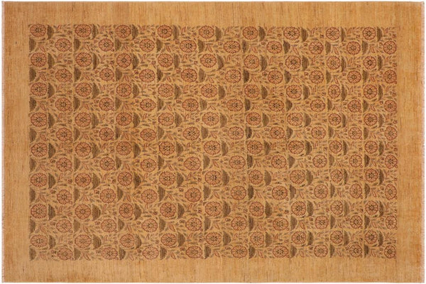 "A01080, 8' 9"" X 12' 1"",Modern                        ,9' x 12',Tan,BROWN,Hand-knotted                  ,Pakistan   ,100% Wool  ,Rectangle  ,652671131882"