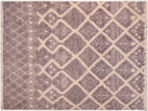 "A10848, 6' 0"" X  9' 2"",Modern                        ,6' x 9',Grey,IVORY,Hand-knotted                  ,Pakistan   ,100% Wool  ,Rectangle  ,652671199653"