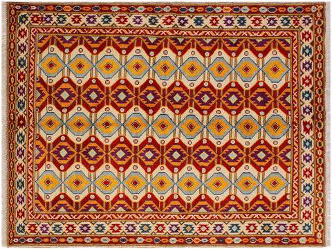 handmade Geometric Tribal Modern Balochi Beige Red Hand-Knotted RECTANGLE 100% WOOL area rug 5x7 Hand knotted indoor Afghan Balochi area rug made for all rooms with high quality wool in rich color pallet handmade by skilled artisans in geometric, transitional, tribal design are known for high quality and affordable price. Oriental rug offered at cheap discount for any decor. Balochi Baluchi Baluch soft wool rug