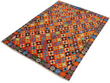 handmade Geometric Tribal Modern Balochi Orange Black Hand-Knotted RECTANGLE 100% WOOL area rug 5x7 Hand knotted indoor Afghan Balochi area rug made for all rooms with high quality wool in rich color pallet handmade by skilled artisans in geometric, transitional, tribal design are known for high quality and affordable price. Oriental rug offered at cheap discount for any decor. Balochi Baluchi Baluch soft wool rug