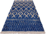 "A10940, 4' 1"" X  6' 1"",Modern                        ,4' x 6',Blue,IVORY,Hand-knotted                  ,Pakistan   ,100% Wool  ,Rectangle  ,652671200571"