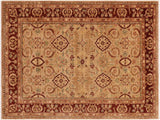 "A01107, 8' 7"" X 11'10"",Traditional                   ,9' x 12',Tan,DRK. RED,Hand-knotted                  ,Pakistan   ,100% Wool  ,Rectangle  ,652671132155"