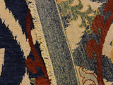 "A11087, 4' 0"" X  6' 0"",Modern                        ,4' x 6',Blue,IVORY,Hand-knotted                  ,Afghanistan,100% Wool  ,Rectangle  ,652671202049"