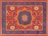 handmade Geometric Mamluk Red Blue Hand Knotted RECTANGLE 100% WOOL area rug 10 x14 Hand knotted indoor mamluk wool area rug made for all rooms with high quality wool in rich color pallet handmade by skilled artisans in geometric, tribal design with center medallion is known for quality wool and affordable price. Oriental hand made rug offered at cheap discount for any decor one of a kind Mamluk Rug