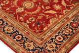 "A01111,10' 1"" X 12'11"",Traditional                   ,10' x 13',Red,BLUE,Hand-knotted                  ,Pakistan   ,100% Wool  ,Rectangle  ,652671132193"