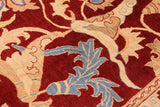 "A01114,10' 3"" X 14' 0"",Traditional,10' x 14',Burgundy,LT. BLUE,Hand-knotted                  ,Pakistan   ,100% Wool  ,Rectangle  ,652671132223"