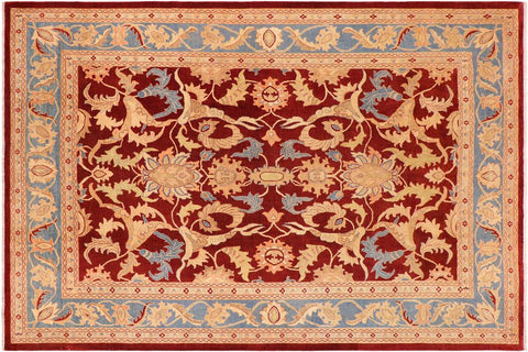 "A01114,10' 3"" X 14' 0"",Traditional                   ,10' x 14',Burgundy,LT. BLUE,Hand-knotted                  ,Pakistan   ,100% Wool  ,Rectangle  ,652671132223"