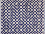 "A11205, 8' 0"" X 10' 1"",Modern                        ,8' x 10',Blue,IVORY,Hand-knotted                  ,Pakistan   ,100% Wool  ,Rectangle  ,652671203220"