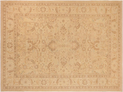 handmade Traditional Kafkaz Tan Beige Hand Knotted RECTANGLE 100% WOOL area rug 10' x 14'