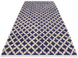 "A11268, 4' 4"" X  6' 4"",Modern                        ,4' x 6',Blue,IVORY,Hand-knotted                  ,Pakistan   ,100% Wool  ,Rectangle  ,652671205354"