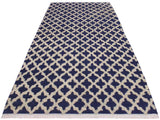 "A11270, 6' 2"" X  9' 7"",Modern                        ,6' x 9',Blue,IVORY,Hand-knotted                  ,Pakistan   ,100% Wool  ,Rectangle  ,652671205385"