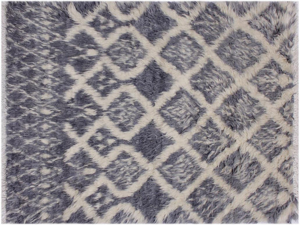 "A11273, 3' 1"" X  4'11"",Modern                        ,3' x 5',Grey,IVORY,Hand-knotted                  ,Pakistan   ,100% Wool  ,Rectangle  ,652671205484"