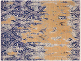 "A11287, 7'10"" X 10' 2"",Modern                        ,8' x 10',Blue,IVORY,Hand-knotted                  ,Afghanistan,Wool&silk  ,Rectangle  ,652671205897"
