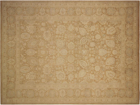 "A01129,10' 1"" X 13' 8"",Transitional                  ,10' x 14',Tan,LT. BROWN,Hand-knotted                  ,Pakistan   ,100% Wool  ,Rectangle  ,652671132377"