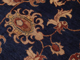 "A01135,10' 0"" X 14' 0"",Traditional                   ,10' x 14',Navy,DARK GOLD,Hand-knotted                  ,Pakistan   ,100% Wool  ,Rectangle  ,652671132438"