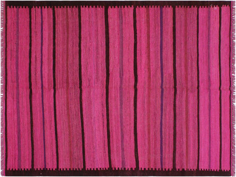 "A11371, 4'11"" X  6' 8"",Geometric                     ,5' x 7',Pink,PURPLE,Hand-woven                    ,Afghanistan,100% Wool  ,Rectangle  ,652671209390"
