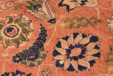 "A01140, 9'11"" X 14' 3"",Traditional                   ,10' x 14',Orange,DRK. BLUE,Hand-knotted                  ,Pakistan   ,100% Wool  ,Rectangle  ,652671132476"