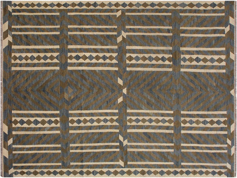 "A11422, 6' 7"" X  9'10"",Geometric                     ,7' x 10',Natural,GRAY,Hand-woven                    ,Afghanistan,100% Wool  ,Rectangle  ,652671209864"