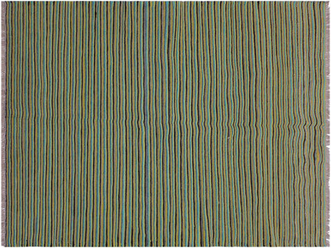 "A11446, 4' 0"" X  5' 4"",Geometric                     ,4' x 5',Green,BLUE,Hand-woven                    ,Afghanistan,100% Wool  ,Rectangle  ,652671210105"