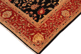 "A01146,10' 1"" X 14' 0"",Traditional,10' x 14',Black,RED,Hand-knotted                  ,Pakistan   ,100% Wool  ,Rectangle  ,652671132537"