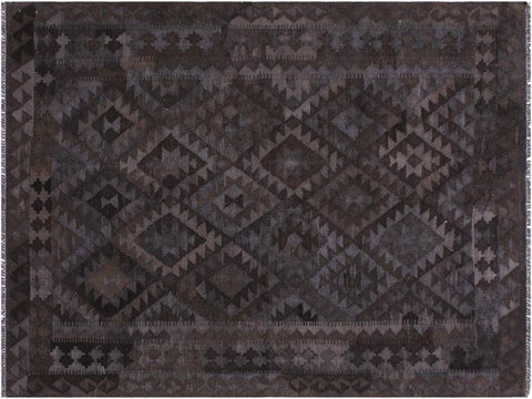 "A11502, 5' 2"" X  6' 2"",Geometric                     ,5' x 6',Brown,GREY,Hand-woven                    ,Afghanistan,100% Wool  ,Rectangle  ,652671210594"