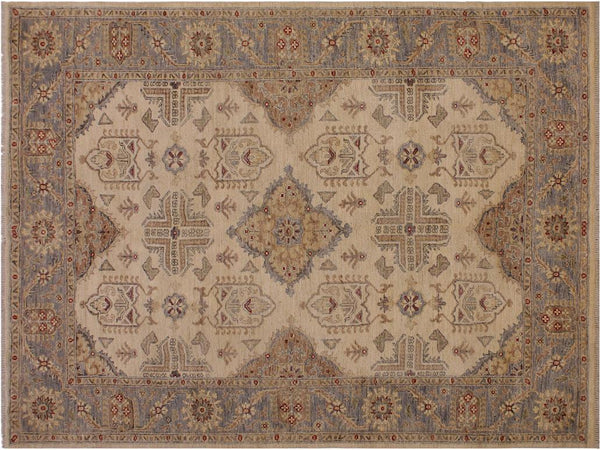 "A11541, 5' 7"" X  7' 3"",Traditional                   ,6' x 7',Natural,GRAY,Hand-knotted                  ,Afghanistan,100% Wool  ,Rectangle  ,652671208362"