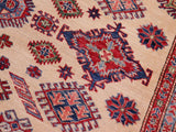 "A11554, 8' 1"" X  9' 7"",Geometric                     ,8' x 10',Natural,RED,Hand-knotted                  ,Afghanistan,100% Wool  ,Rectangle  ,652671208676"