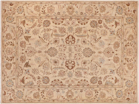 handmade Traditional Kafkaz Beige Tan Hand Knotted RECTANGLE 100% WOOL area rug 10' x 14'