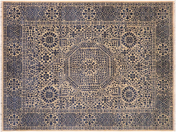 handmade Geometric Mamluk Beige Blue Hand Knotted RECTANGLE 100% WOOL area rug 8 x10 Hand knotted indoor mamluk wool area rug made for all rooms with high quality wool in rich color pallet handmade by skilled artisans in geometric, tribal design with center medallion is known for quality wool and affordable price. Oriental hand made rug offered at cheap discount for any decor one of a kind Mamluk Rug