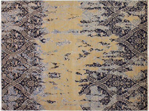 "A11605, 9' 8"" X 13'10"",Modern                        ,10' x 14',Blue,IVORY,Hand-knotted                  ,Afghanistan,100% Wool  ,Rectangle  ,652671208515"