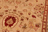 "A01160,10' 2"" X 13'10"",Traditional,10' x 14',Tan,IVORY,Hand-knotted                  ,Pakistan   ,100% Wool  ,Rectangle  ,652671132674"